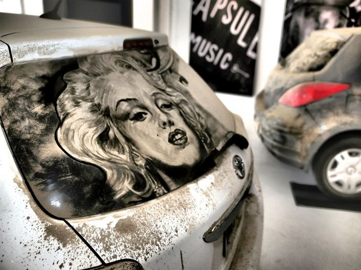 Best Dirty Car Art Images On Pinterest Lwren Scott Window - Scott wade makes wonderful art dusty car windows