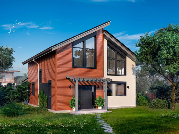 Two-storey house 141 sq.m  #buindilg #design #architecture #canadianhouse #vacationhome #countryhouse #cottage