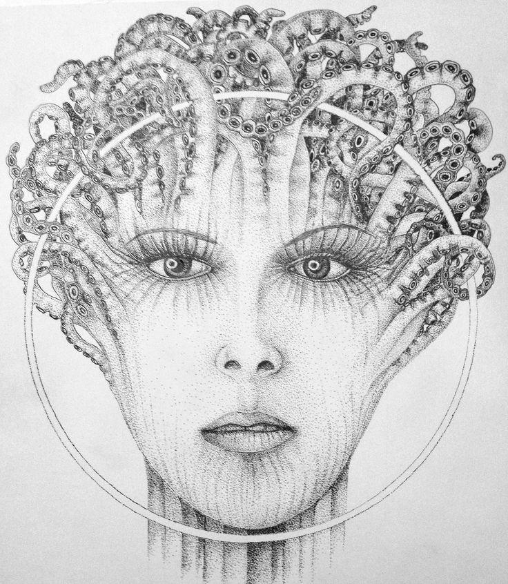 graphics, ink, dot technique