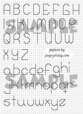 Kreuzstich Back Stitch Pattern Alphabet von joeyrz auf Etsy, $ 2.50