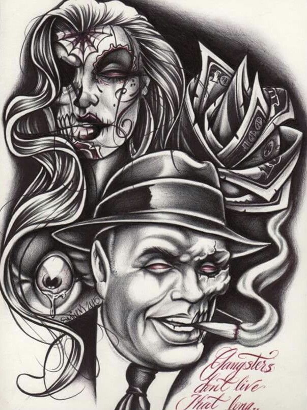 Gangsters Don T Live That Long Art Gangster Tattoos
