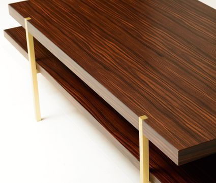 Berlin Table | Furniture Collection by Maxine Snider Inc. interior design, furniture, coffee table, sofa table, console, side table, metal coffee table, stainless steel, bronze, modern design, contemporary, transitional design, minimalist, living room, office, den, study, library, bedroom, cocktail table, rosewood, architectural