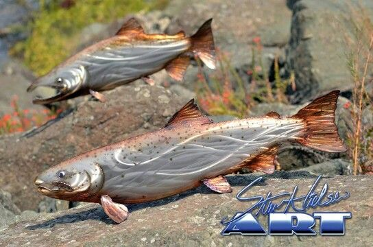 1000 images about steve nielsen art stainless fish for Salmon fishing northern california