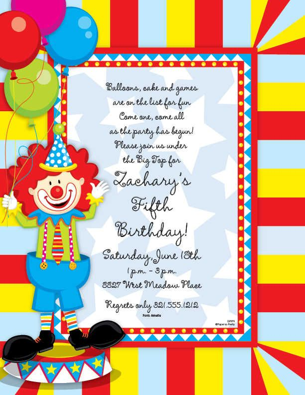 45 best Done - Circus birthday images on Pinterest Circus - circus party invitation
