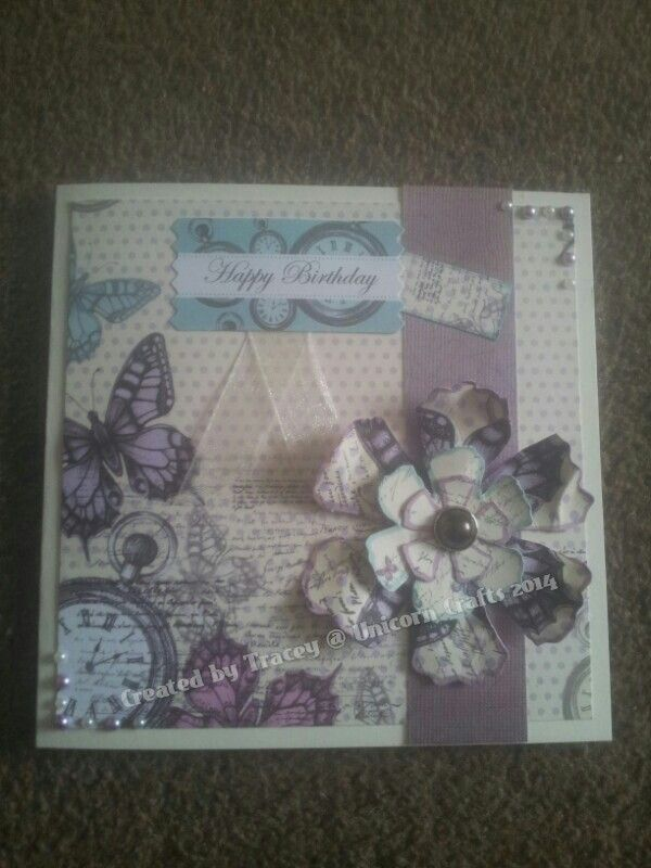 This is a selection of the cards I have made using the time flies collection.