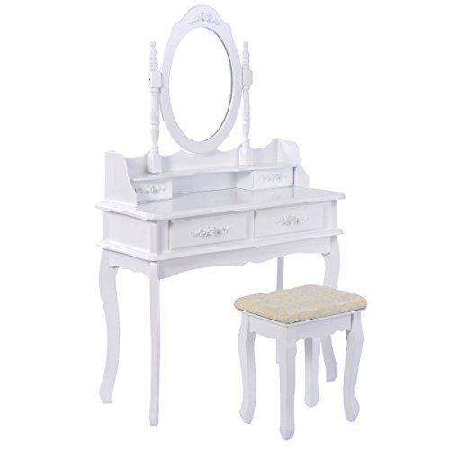 Giantex White Vanity Jewelry Makeup Dressing Table Set W/... https://smile.amazon.com/dp/B01LW2TCBJ/ref=cm_sw_r_pi_dp_x_7RT9xb4GAT818