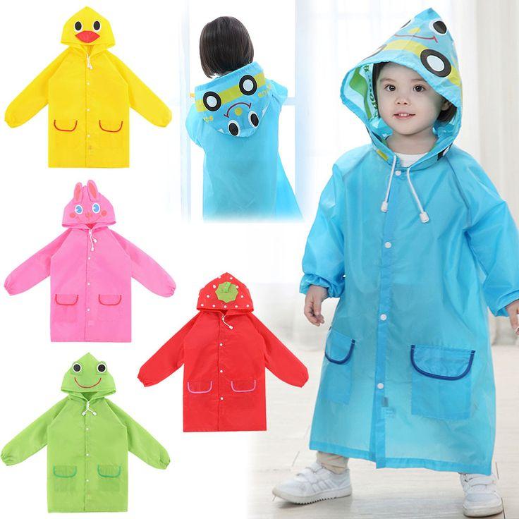 Free Shipping Kids Rain Coat children Raincoat Rainwear/Rainsuit,Kids Waterproof Animal Raincoat 1pcs