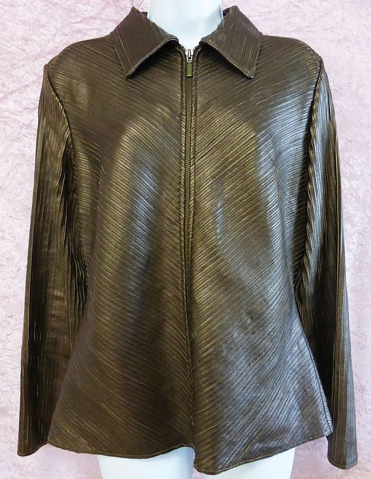Wilsons Leather pelle studio women jacket brown L/LARGE