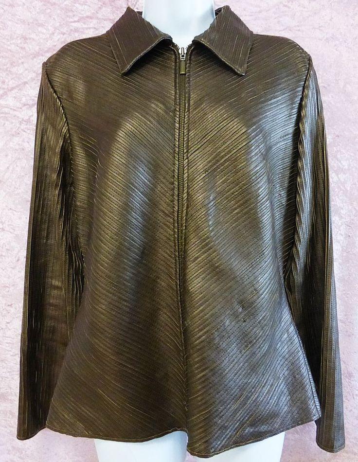 Wilsons Leather pelle studio women jacket brown L/LARGE