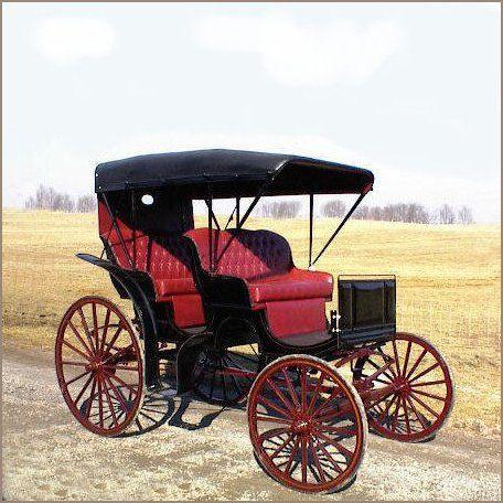 Surrey - Horse Drawn, Auto Top In Black, Base Price $6,095.00 | A Wagon Wheel