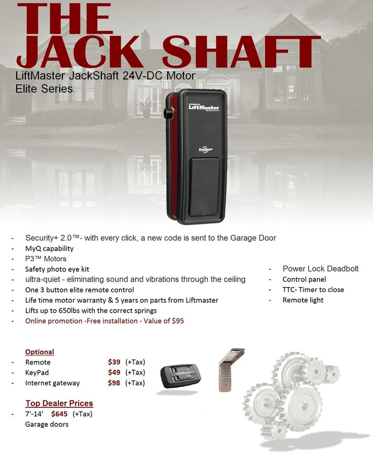 The Incredible and Gorgeous Liftmaster 3950 Jackshaft Garage Door Opener for  House