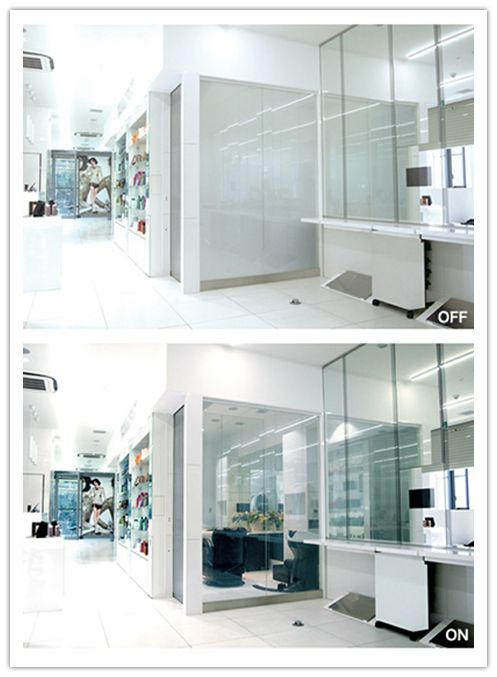 smart windows, switchable privacy glass, smart glass, self-adhesive films, PDLC films, and electrochromic laminates.