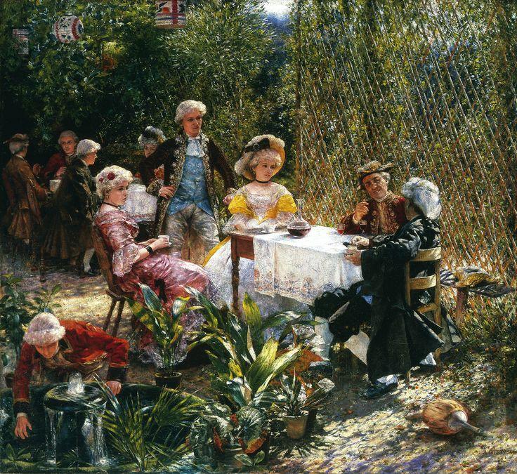 Aleksander Gierymski - W altanie, 1882