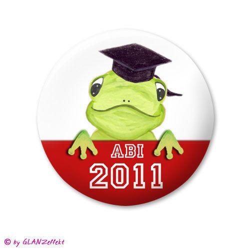 Button ♥ Abitur + Jahr ♥ mit Froschkönig Ludwig ♥ von KUNSTgedrucktes vom Atelier GLANZeffekt auf DaWanda.com