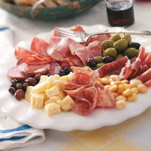 Antipasto Recipes from Taste of Home -- including Classic Antipasto Platter Recipe