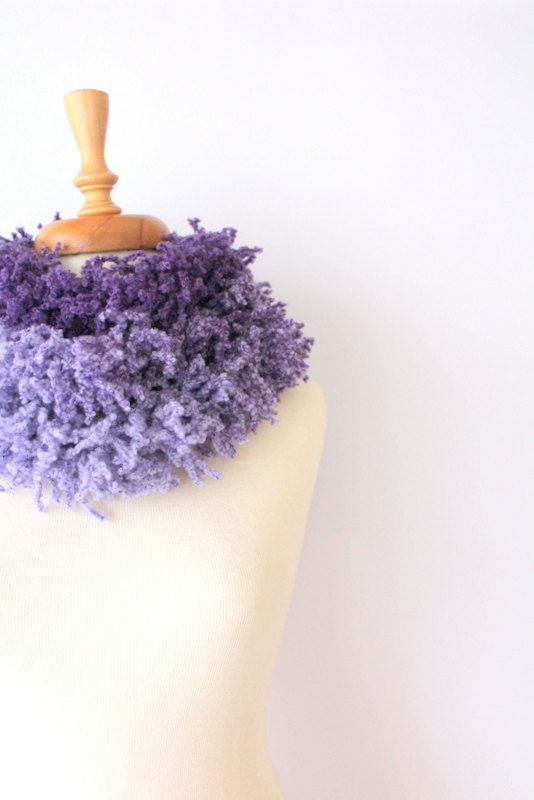 Lilac to Purple Fringed Scarf Women Scarf Fringed Scarf