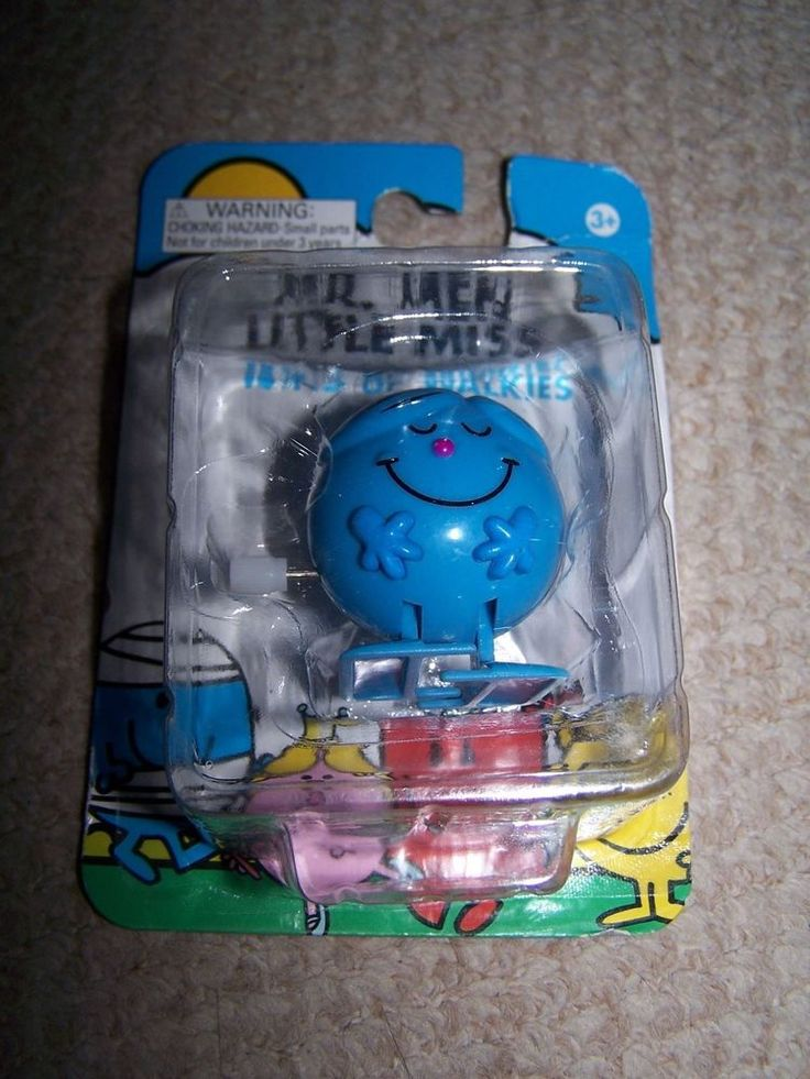 Mr Men Mr Perfect Wind Up Walkies Toy Stocking Filler Party Bag Gift #Goldie