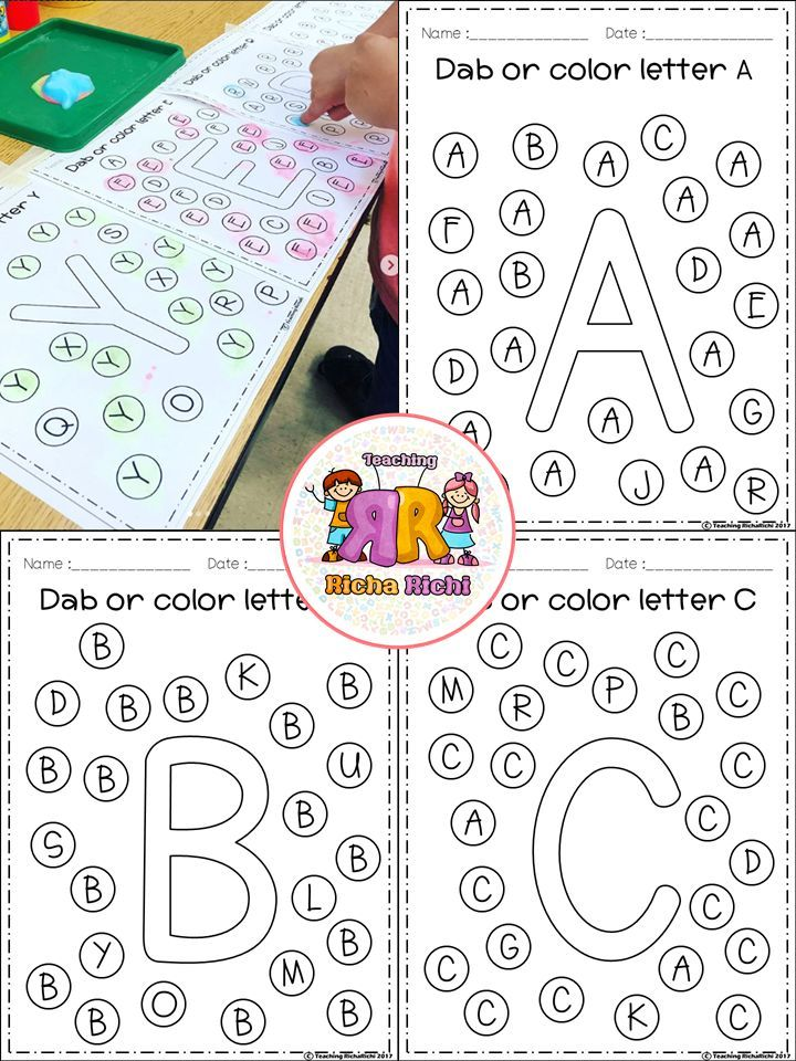 FREE Alphabet Dab (A-Z) | TpT FREE LESSONS | Pinterest