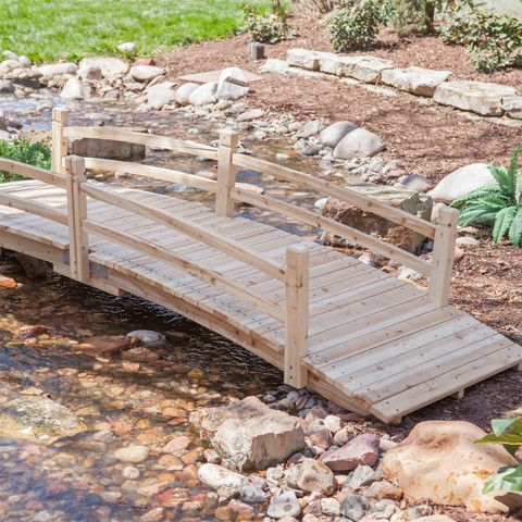 budget furniture Wooden bridge made of fir wood. Ready for finishing.