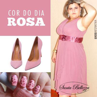 Rosa nos faz sentir carinho, amor e proteção. Também nos afasta da solidão e nos converte em pessoas sensíveis. Compre direto do site www.santabellezza.com.br #rosa #plussize #moda