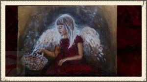 obraz Anioł z koszykiem