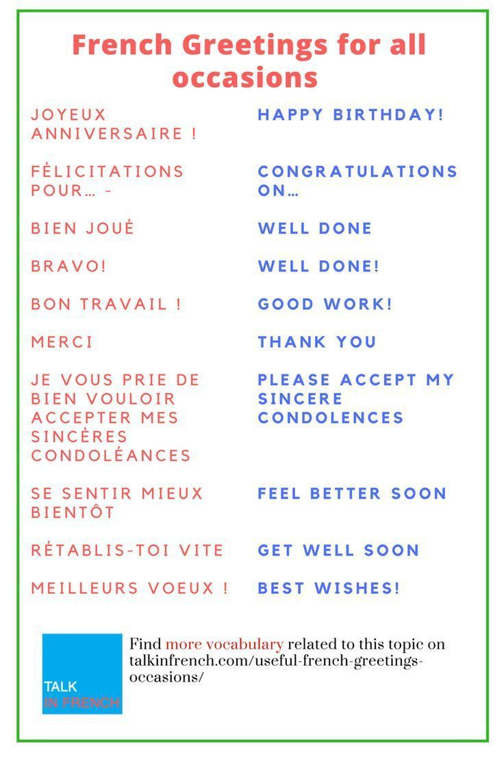 Pin By San Martin On Apprendre Anglais En S Amusant French Greetings Basic French Words French Flashcards