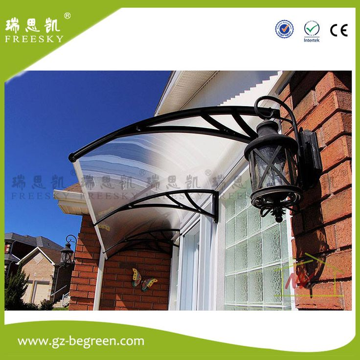 Easy Install - YP60160 60x160cm 60x240cm 60x320cm freesky Ploycarbonate awning,PC window,door canopy,window cover,Retractable Awnings