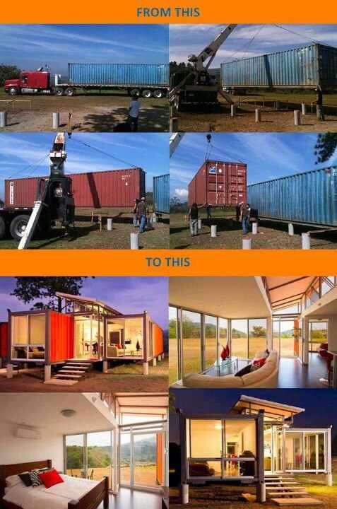 Creative idea container home pinterest truc for Amenager un container