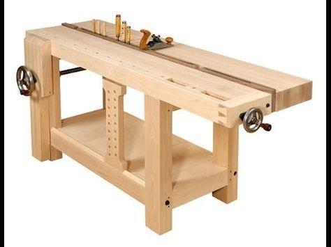 4/5 - Construcción de los tornillos de banco y soporte lateral deslizable - Workbench vises - YouTube