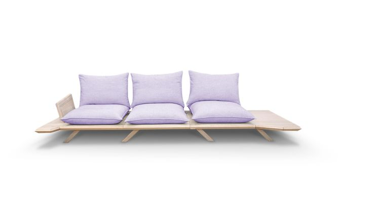 Oh! my woodness! sofa focuses on the essentials and leaves the rest to the user's liking and imagination.