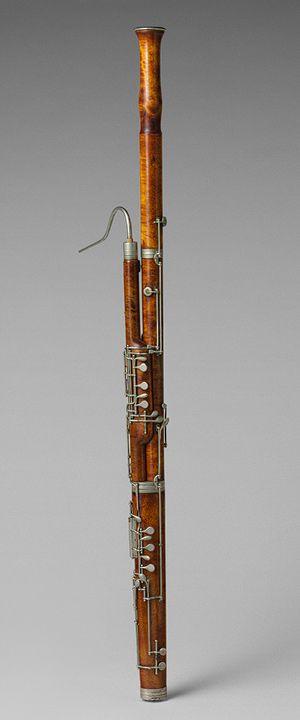 Bassoon, 1881 Giosue Esposito, Naples Maple, nickel-silver