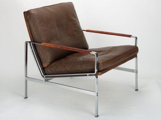 leather / wood / chrome