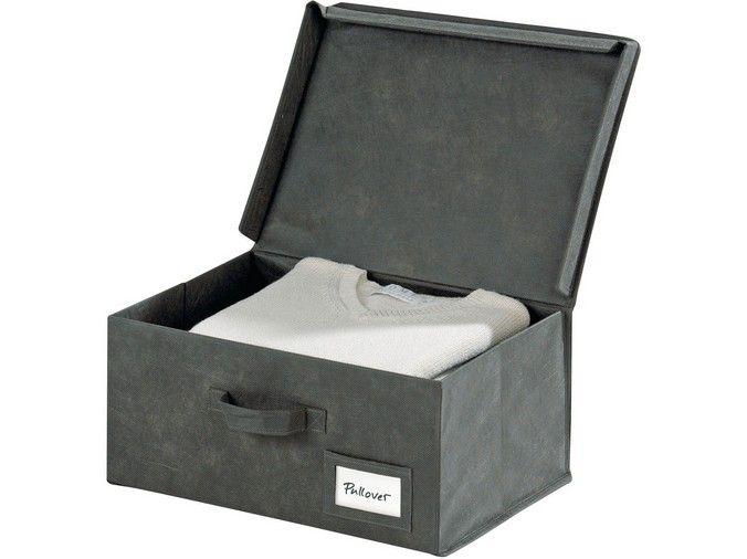Cutie pentru depozitare realizata din panza rezistenta, ideala pentru organizarea hainelor, revistelor sau a altor produse de papetarie.