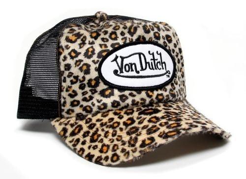 Von Dutch Cheetah Print Truckers Hat <3