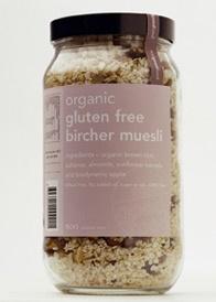 organic gluten free  bircher muesli