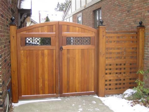 black iron decorative fence gate