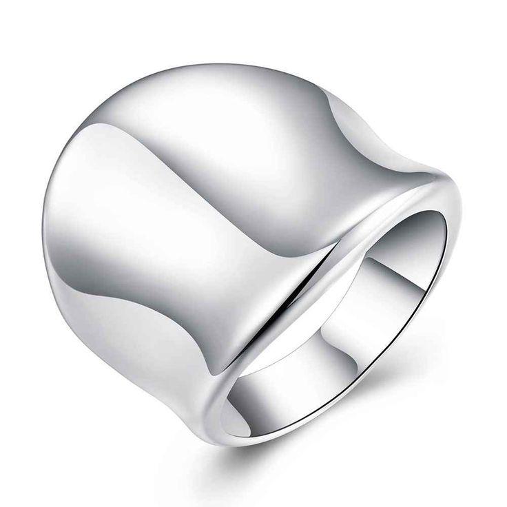 Gratis Verzending Hot Selling zilveren ringen Duim Plaat opal Sieraden Europese Stijl