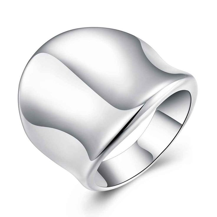 Free Shipping Best Gift  silver plated wedding rings Thumb Plate anillos bijoux SMTR052