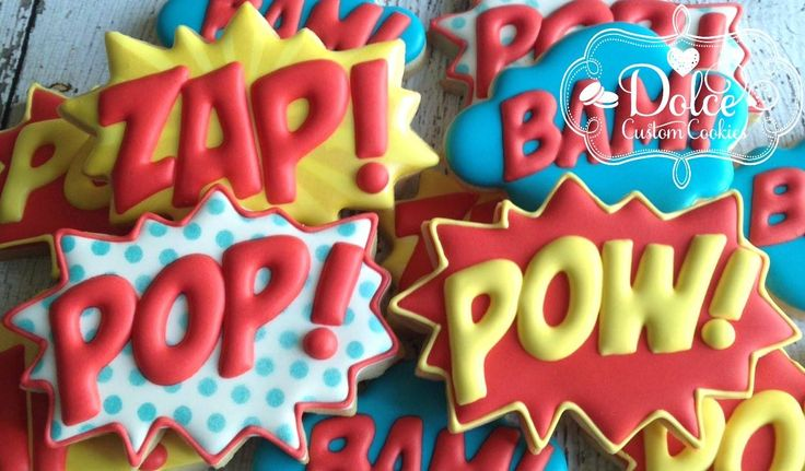Dolce - Superhero Burst Birthday Cookies
