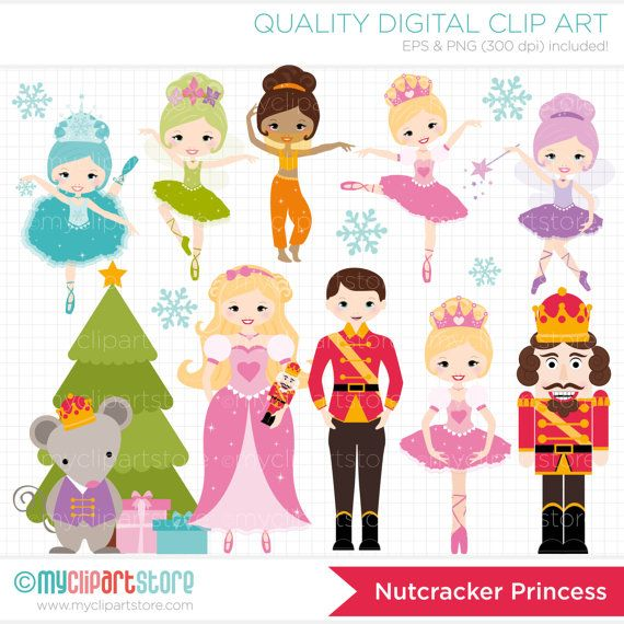 Digital Clipart - Nutcracker Princess Clip Art / Digital Clipart - Instant Download on Etsy, $5.00