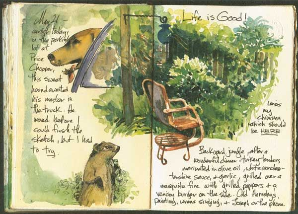 Watercolor journal ideas; How to apply watercolor pencil by Cathy Johnson