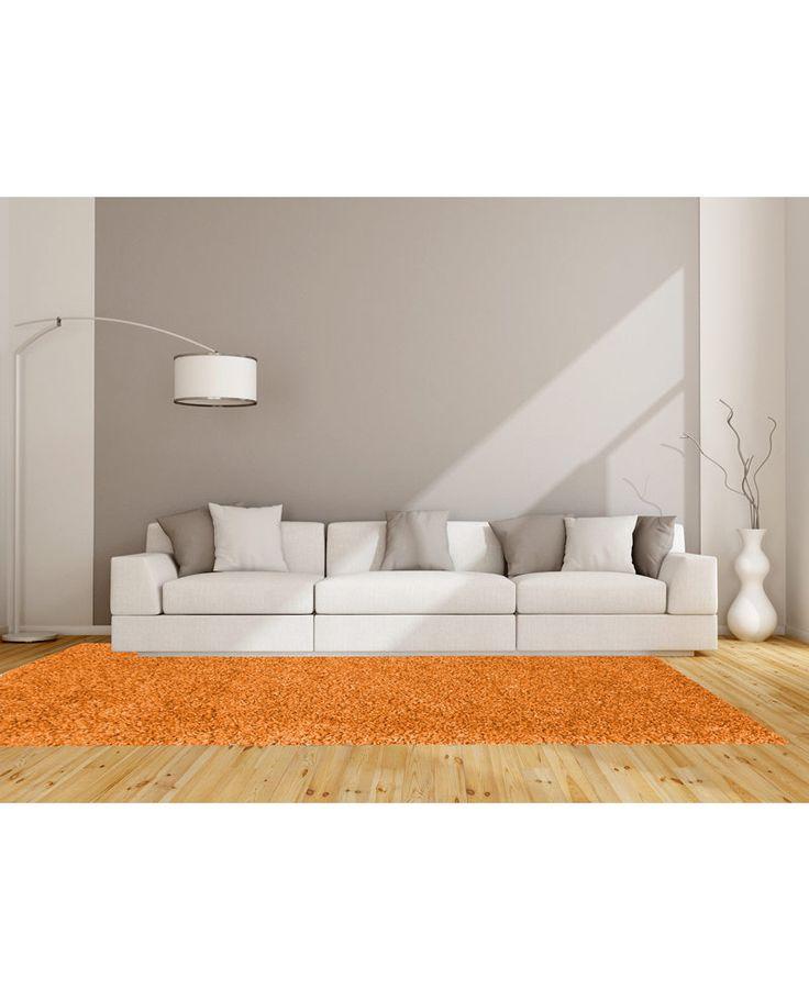 Una alfombra barata de gran calidad en color naranja.  Descubre las opciones disponibles para todo tipo de hogares. Amplia gama de colores y medidas.