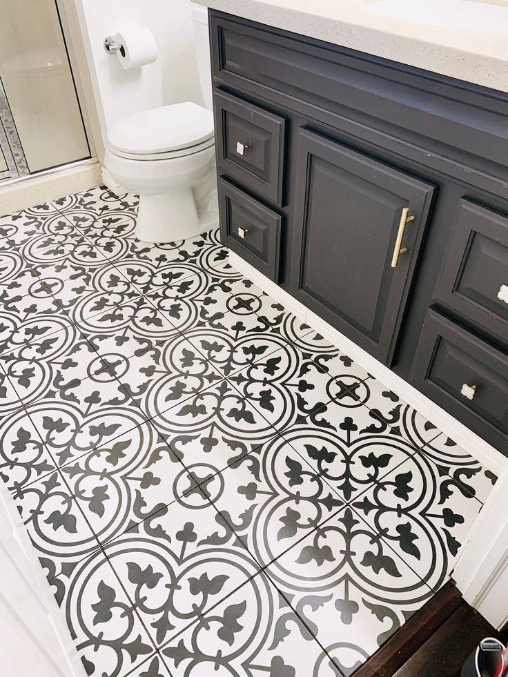 Black And White Tile I Geometric Tile I Bathroom