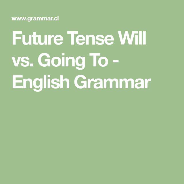Future Tense Will vs. Going To - English Grammar