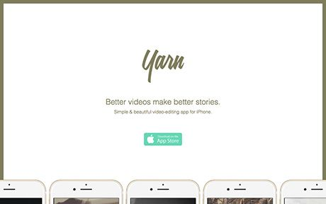 Yarn is a simple and beautiful video-editing app for the iPhone that allows you to create better videos to share and enjoy.