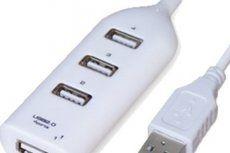 Løb aldrig mere tør for tilslutning og opladnings muligheder. Med en 4-i-1 USB Hub kan du have 4 enheder tilsluttet.