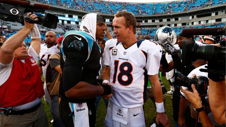 Super Bowl 50: 2 QB  Broncos and Panthers Battle for the SB 50 Trophy...