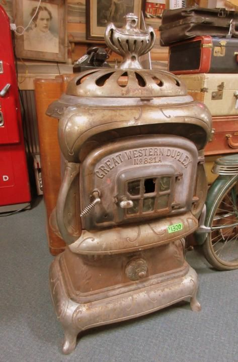 Antique wood stove from Vendor 339 in booth 174. Priced at $1300.00. ~ The - 136 Best Antique & Vintage Furniture Images On Pinterest Denver