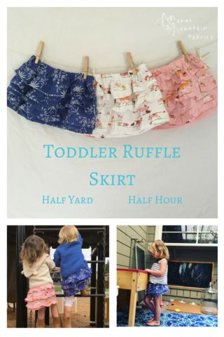 Toddler Skirt tutorial - free toddler ruffle skirt sewing tutorial! Cute little kid's skirt sewing pattern.