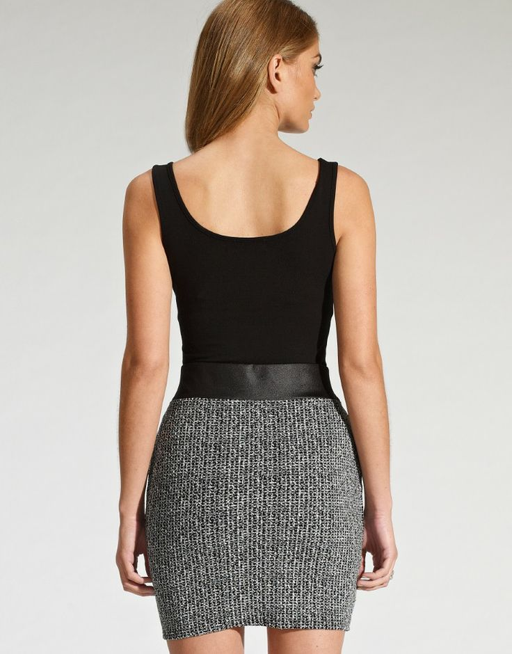 Lipsy Textured Wrap Skirt